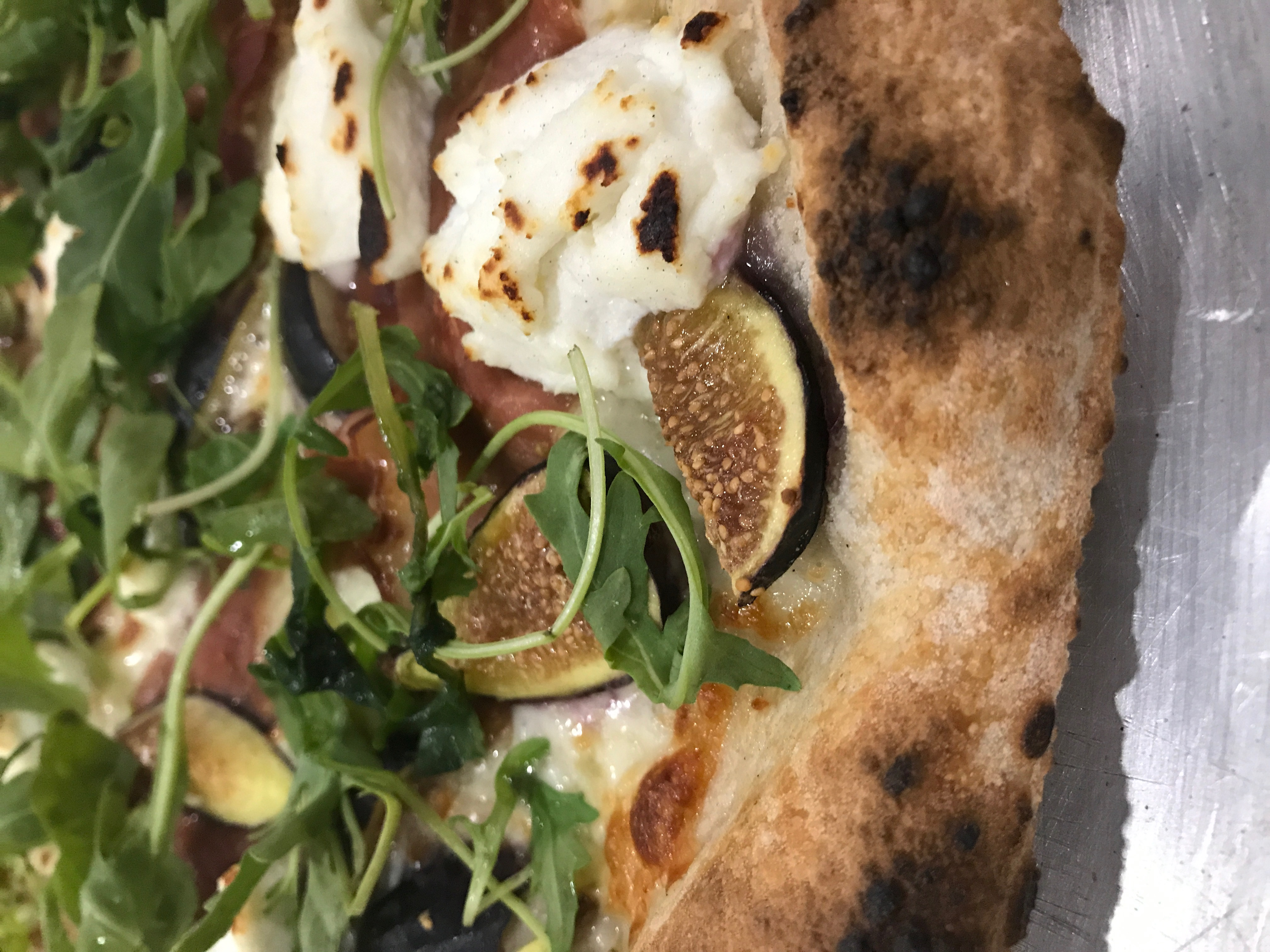 Fig & Arugula with Pops of Ricotta!